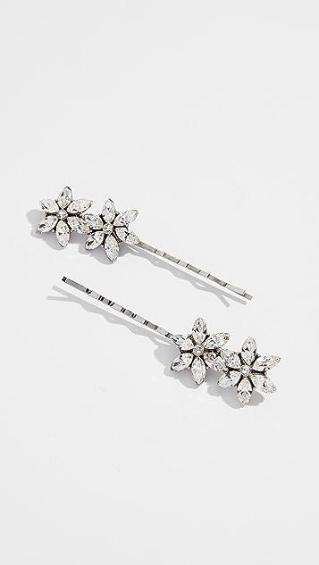 Ben-Amun Flower Hair Pins