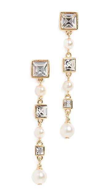 Ben-Amun Crystal & Pearl Drop Earrings
