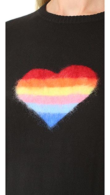 Bella Freud Rainbow Heart Jumper
