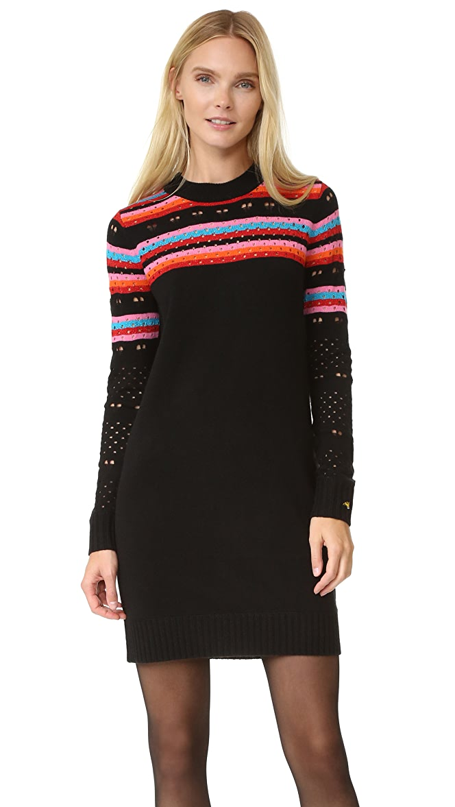 bf9014b42a Bella Freud Rainbow Love Lace Dress