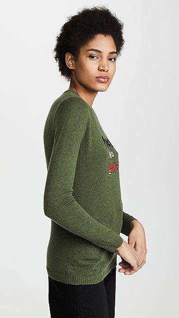 Bella Freud Peace and Love Sweater