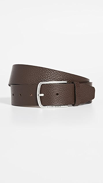 BOSS Hugo Boss Sander Grainy Leather Belt