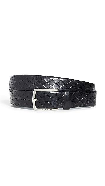 BOSS Hugo Boss Jor Woven Embossed Leather Belt
