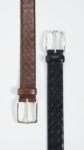 BOSS Hugo Boss Jor Woven-Embossed Leather Belt