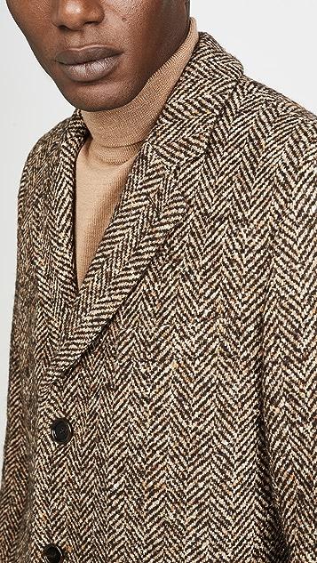 BOSS Hugo Boss Herringbone Topcoat