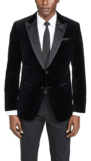 BOSS Hugo Boss Velvet Dinner Jacket with Satin Peak Lapels