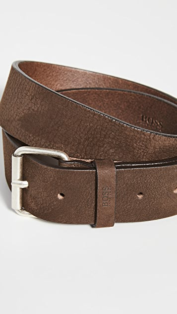 BOSS Hugo Boss Serge Nubuck Leather Belt