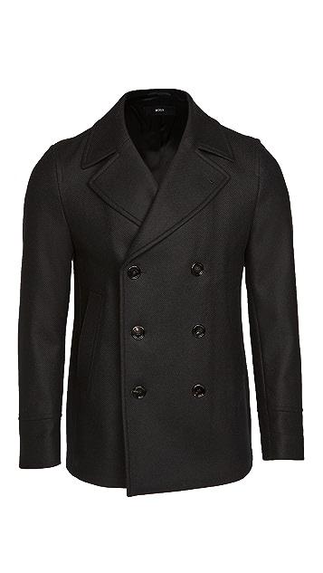 BOSS Hugo Boss Double Breasted Pea Coat