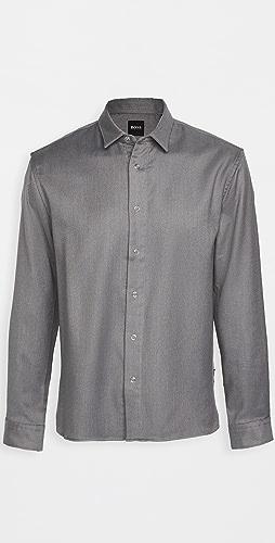 BOSS Hugo Boss - Double Face Houndstooth Button Down Shirt