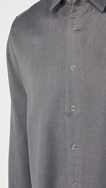 BOSS Hugo Boss Double Face Houndstooth Button Down Shirt