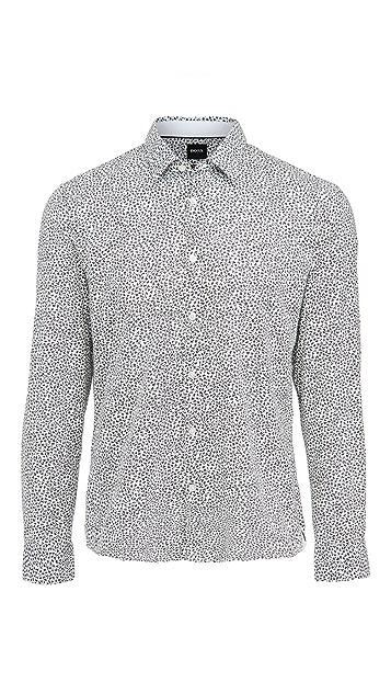 BOSS Hugo Boss Awatti Cotton Button Down Shirt