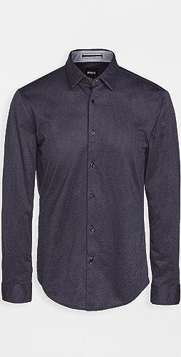 BOSS Hugo Boss - Jersey Slim Fit Button Down Shirt