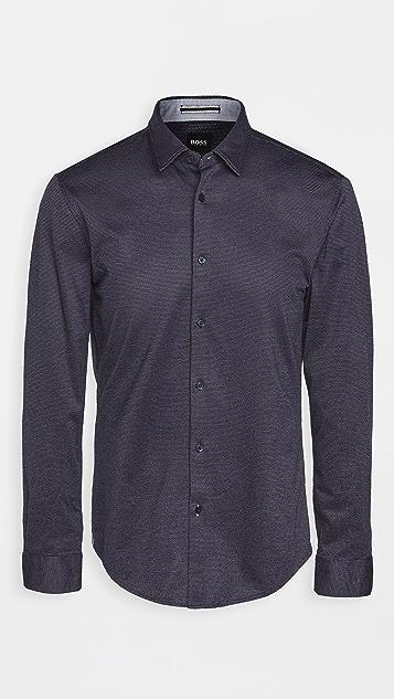 BOSS Hugo Boss Jersey Slim Fit Button Down Shirt