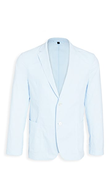 BOSS Hugo Boss Light Blue Pinstripe Suit Jacket