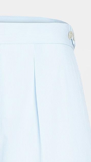 BOSS Hugo Boss Light Blue Pinstripe Suit Shorts