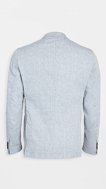 BOSS Hugo Boss Dusty Blue Linen Blend Suit Jacket