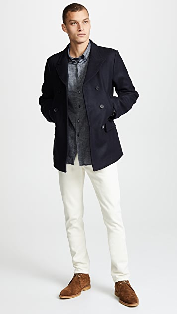 Billy Reid Bond Wool Blend Peacoat