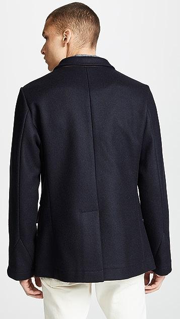 Billy Reid Bond Wool Blend Peacoat