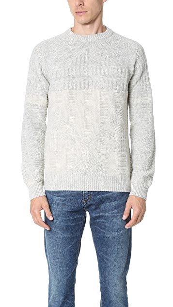 Billy Reid Hex Directional Crew Sweater