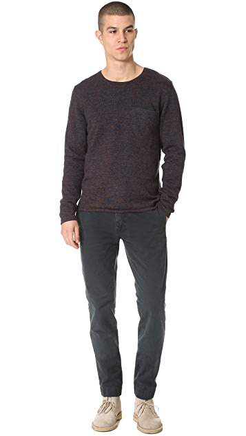 Billy Reid Lined Crew Sweater