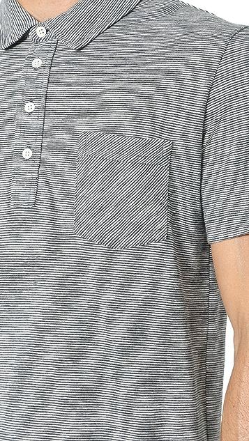 Billy Reid Ombre Stripe Polo Shirt