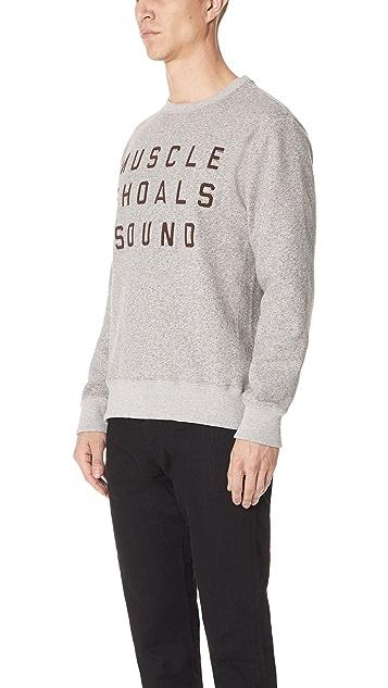 Billy Reid MSS Fleece Crew Sweatshirt