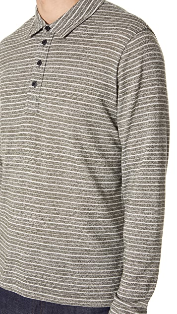 Billy Reid Long Sleeve Smith Polo Shirt