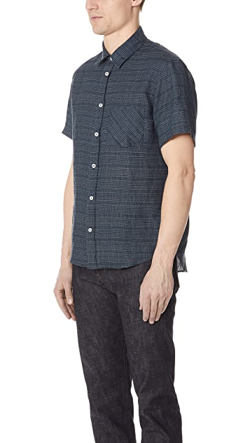 Billy Reid Short Sleeve Kirby Shirt