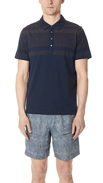 Billy Reid Gradient Polo Shirt
