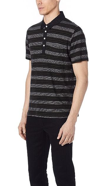 Billy Reid Cashmere Stripe Polo Shirt