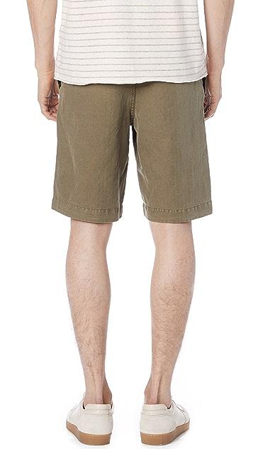 Billy Reid Clyde Linen Shorts