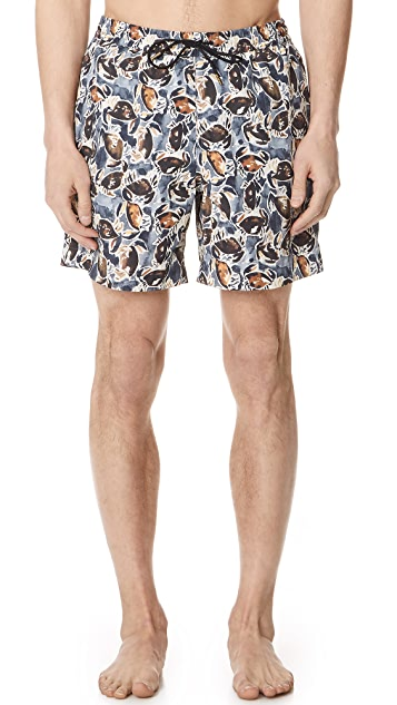 Billy Reid Crab Swim Trunks