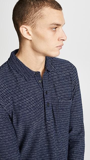 Billy Reid Stripe Polo Shirt