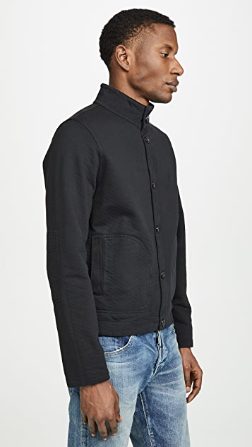 Billy Reid Garment Dyed Terry Cardigan