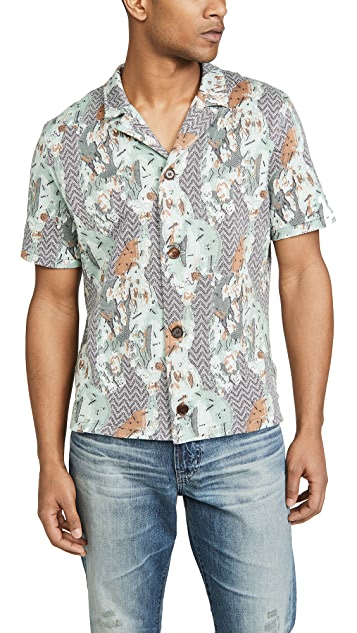 Billy Reid Cactus Bowling Shirt