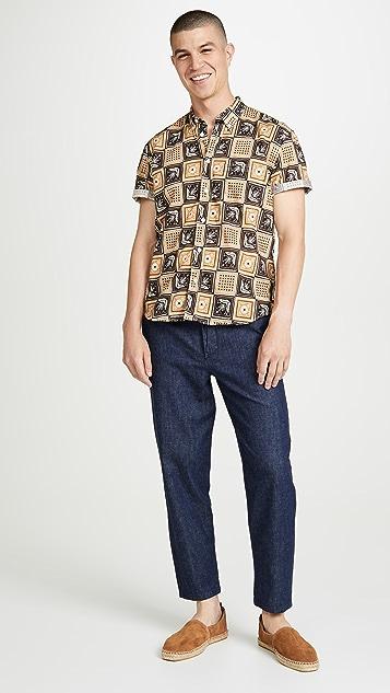 Billy Reid Tuscumbia Short Sleeve Savannah Tile Shirt