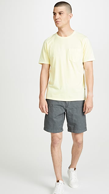 Billy Reid Short Sleeve Washed Cotton T-Shirt