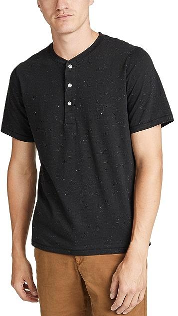 Billy Reid Short Sleeve Henley Shirt