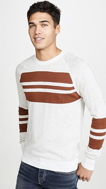 Billy Reid Reversible Cotton Silk Crew Neck Sweater