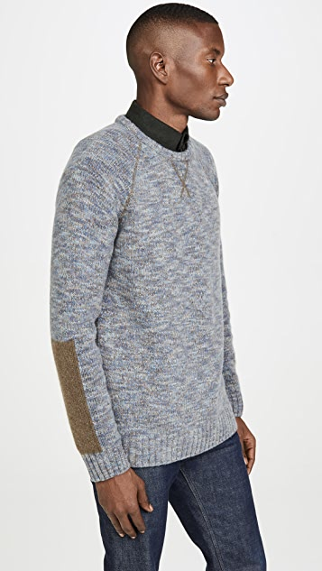 Billy Reid Space Dye Cashmere Crew Neck Sweatshirt