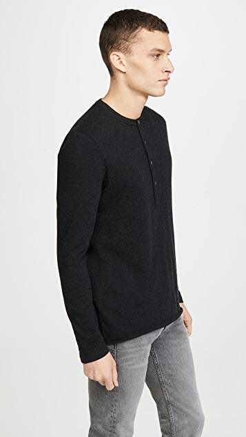 Billy Reid Long Sleeve Louis Henley