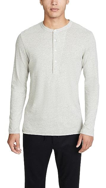 Billy Reid Long Sleeve Louis Henley Shirt