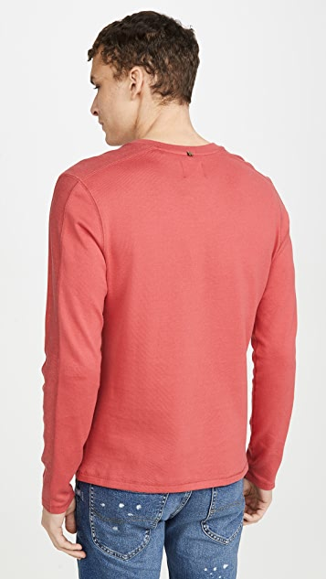 Billy Reid Plaited Rib Long Sleeve Henley