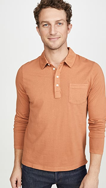 Billy Reid Long Sleeve Pensacola Polo