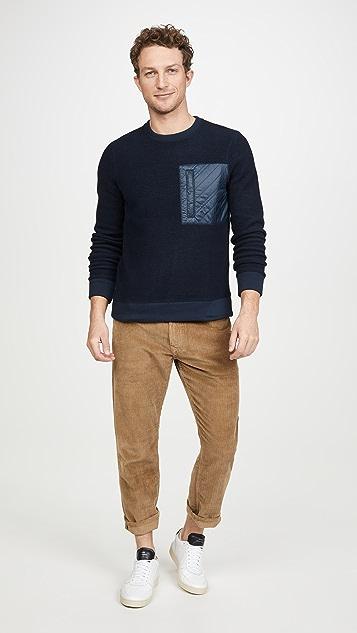Billy Reid Fleece Crew Neck Sweatshirt