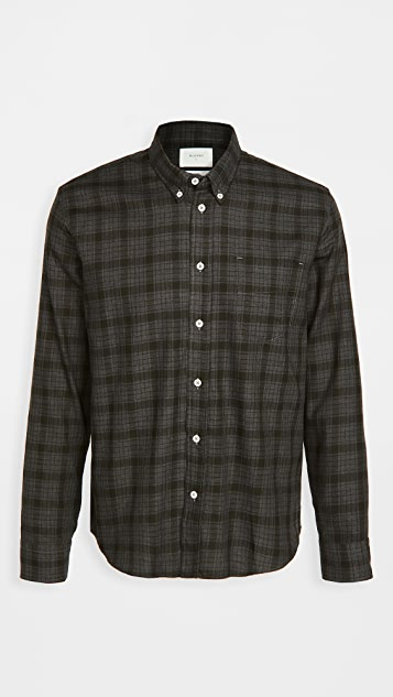 Billy Reid Offset Pocket Plaid Shirt
