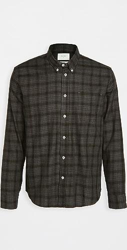 Billy Reid - Offset Pocket Plaid Shirt