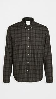 Billy Reid Offset Pocket Plaid Shirt
