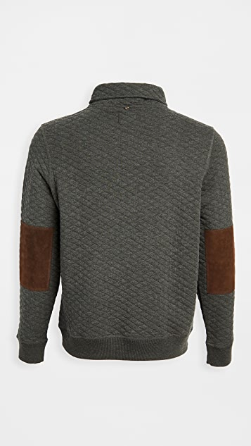 Billy Reid Diamond Quilted Shawl Collar Pullover