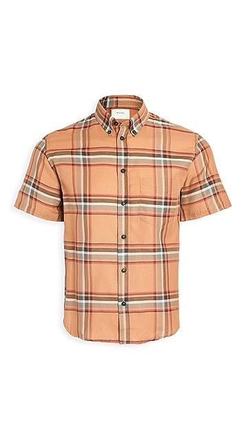 Billy Reid Kirby Short Sleeve Slim Shirt